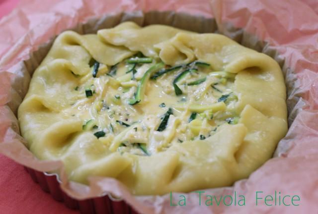 ズッキーニと白葱のトルタサラータ