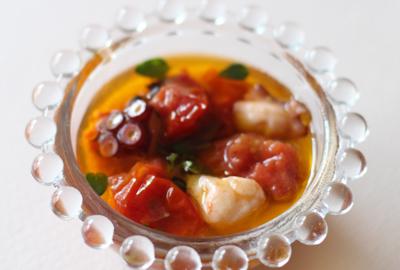 トマトと蛸のオリーブオイル煮